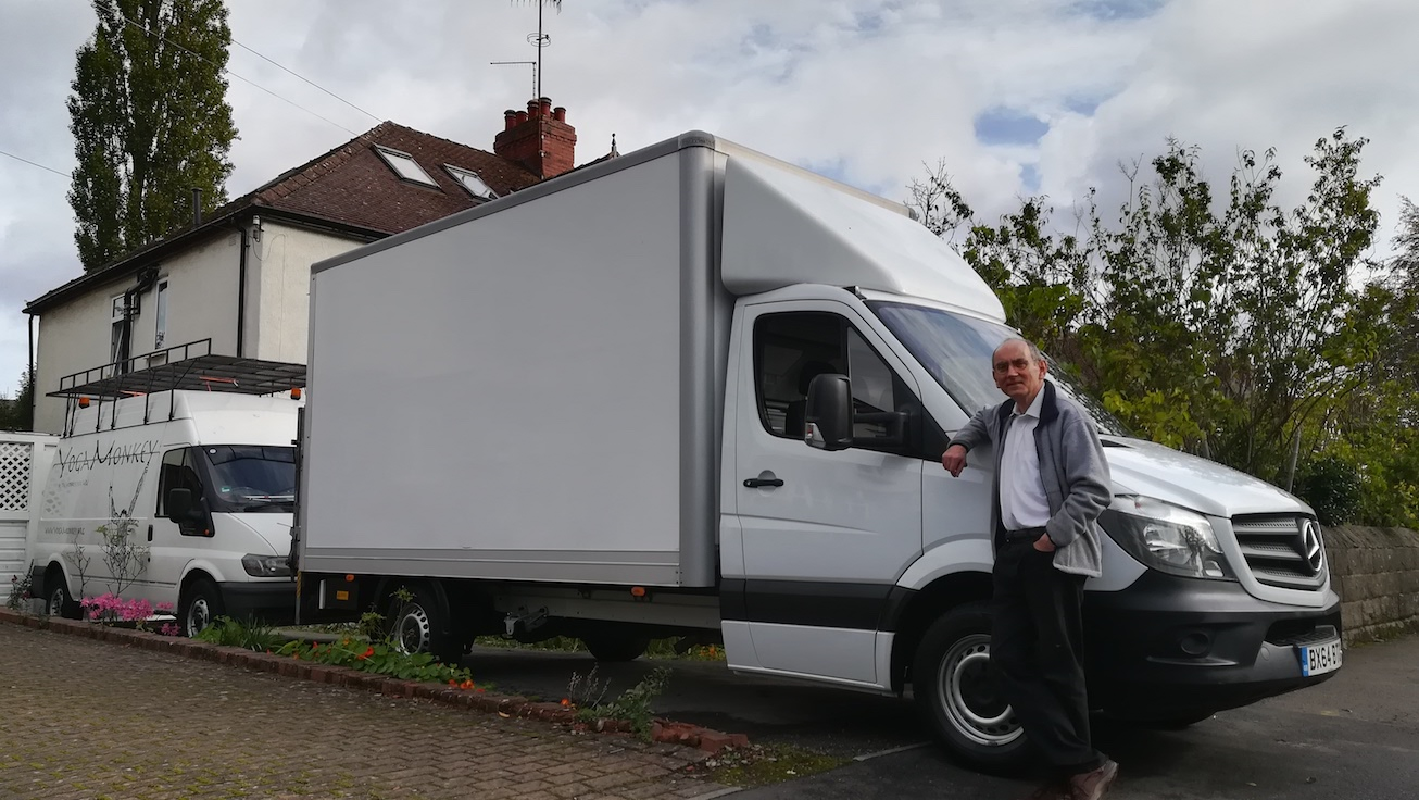 Gentleman With Van's spacious van & father in Sheffield ready to load and move to Berlin